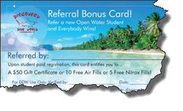 Discovery Dive World referral program